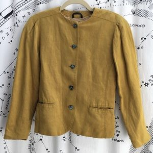 Mustard yellow linen jacket from Finland